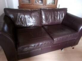 2 piece, chestnut leather sofas from Next.