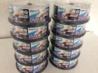 Brand New & Sealed Philips DVD-R 120Mins 4.7GB 16x Speed 25 Disc Spindle Packs