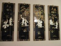 4 CHINESE HANGING PICTURES