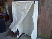 Fabric and Plastic Framed wardrobe Delivery Available £5