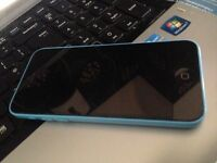 apple iphone 5c blue fault faulty but good screen and working iPod camera apps kids