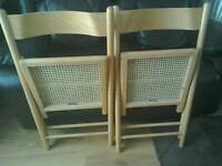 2 habitat fold up chairs £5 each