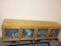 cupboard/flat storage cabinet with 4 drawers with two shelf in each