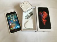 iPhone 6S 64GB space gray in box with Apple warranty for sale