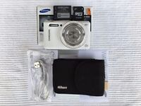 Samsung WB35F Digital camera (White) - Excellent condition in box with 64gb memory card & all extras