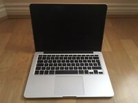 Macbook Pro Retina Late 2013 13' - 2.4 i5/256GB/8GB with box and charger, very good battery life