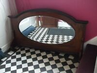 Good Antique Mirror Upstand for Mirror Back Sideboard