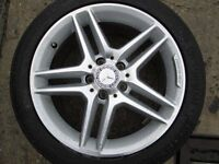 """GENUINE UPGRADED MERCEDES C CLASS 17""""ALLOYS WITH TYRES"""