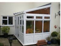 Conservatory ( dismantled) with double French doors