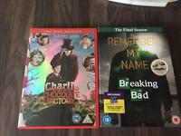 DVD's Charlie & choc factory/Breaking Bad