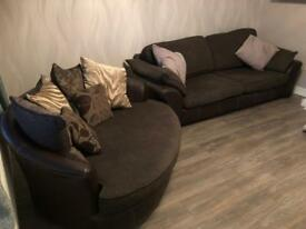 4seater sofa and large cuddle chair