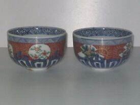 Pair of oriental tea bowls