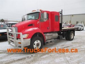 2012 Kenworth T370 4X4, FLAT DECK + 5TH WHEEL HITCH!!!