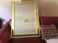 Solid wood gold frame wall mirror and extra free goodies included