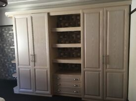 LARGE FITTED WOODEN WARDROBES BARGAIN