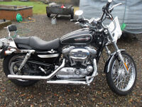 Harley Davidson Sportster 1200cc Stage one converion & vance & Hines straight shot exhausts