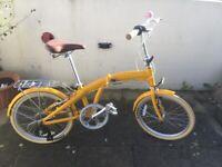 Bobbin Fold Bike in Yellow