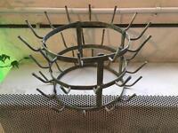 Vintage Bottle drier / bottle rack french style Marcel Duchamp retro galvanised metal Rare !