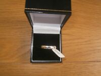 platinum new unused with tags wedding band ring