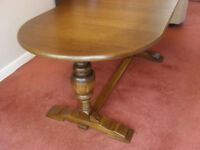 Large Oak Dining Table and optional 4 chairs