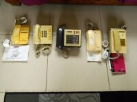 RETRO PHONES FOR SALE. VARIOUS ANSWER PHONES. PAY PHONES. COLLECTABLES FOR SOMEONE.