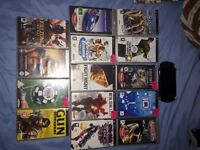 Sony PSP with 13 games and 1 movie