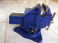 New 1 Ton Genuine Record Engineer Vice Jaw with Swivel Base
