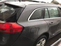 Vauxhall INSIGNIA ESTATES. REAR. 1/4. Glass. /. Window. Drivers side. Breaking spares 2010 - 2012