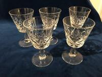 Brierley Crystal Sherry Glasses