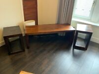 Wooden TV Unit & Side Stands