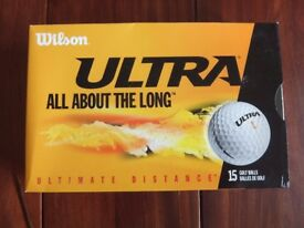 Wilson Ultra golf balls 5 x 3 packs sealed