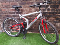 """Adults APOLLO FS.26, 21"""" Frame, 18 Speed, Susp, Bike SERVICED & WORKING"""
