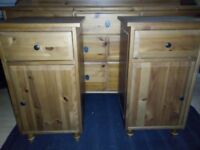 Ikea chest of drawers and 2 Bedside tables