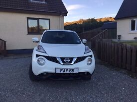 Nissan Juke Tekna 1.5 dci white, Immaculate, low mileage