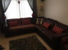 Brown leather Corner Sofa **SOLD PENDING COLLECTION**