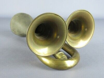 Unusual Trumpet Brass Horn A Two Holes Period Xx Century