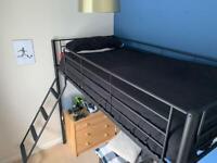 HIGH SLEEPER BED - BLACK