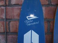Water skiis. Vintage Fletcher plywood skis.
