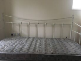 Shabby chic style two matching single beds