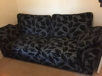 Two seater sofa bed with mattress