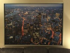 Beautiful large print of London, showing it as if you were looking down on the city at night