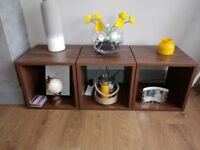 For Sale 'NEXT' Living Room Furniture (Walnut Effect) - 4 Cube Side Tables