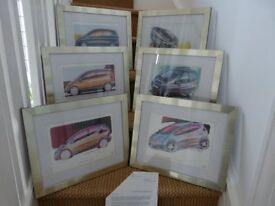 Mercedes official 'A' Class Concept pictures. Set of 6 and framed.