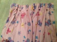 Pair of girls bedroom curtains 54 inch drop