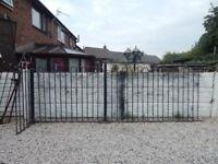 Wrought iron railings / Metal fencing / Bow top / Decking area / Patio / Garden fence / Outdoor iron
