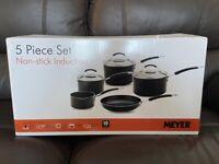 BRAND NEW Meyer 5 Piece Aluminium Non Stick Pots and Pans Set MRP £220 PICKUP NE13