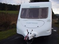 ### 2006 4 Berth Fleetwood Meridien Caravan with Awning ###