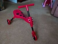 Scuttlebug Beetle (Red and Black). Ride on 3 wheel trike
