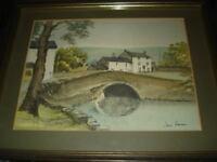 Original Hand Coloured Watercolour Print Jane Pearson Malham North Yorkshire