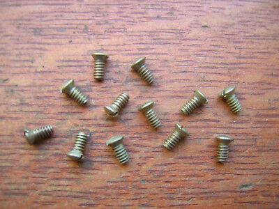 Twelve New Brass Door Knob Set Screws